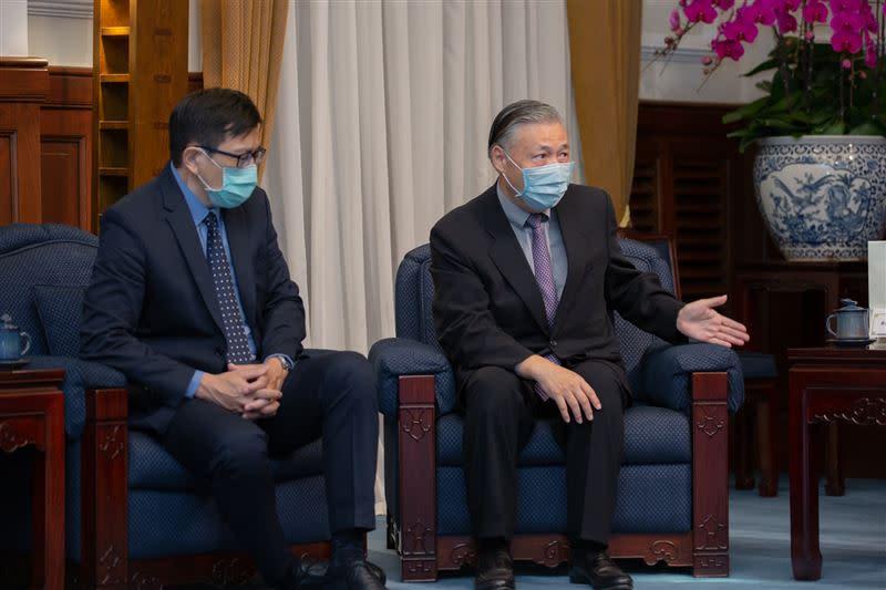 蔡英文指出,打造臺灣成為「半導體先進製程中心」,是政府持續進行的計畫。(圖/總統府提供)