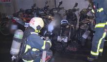 縱火? 大安區凌晨6機車遭火吻燒成廢鐵
