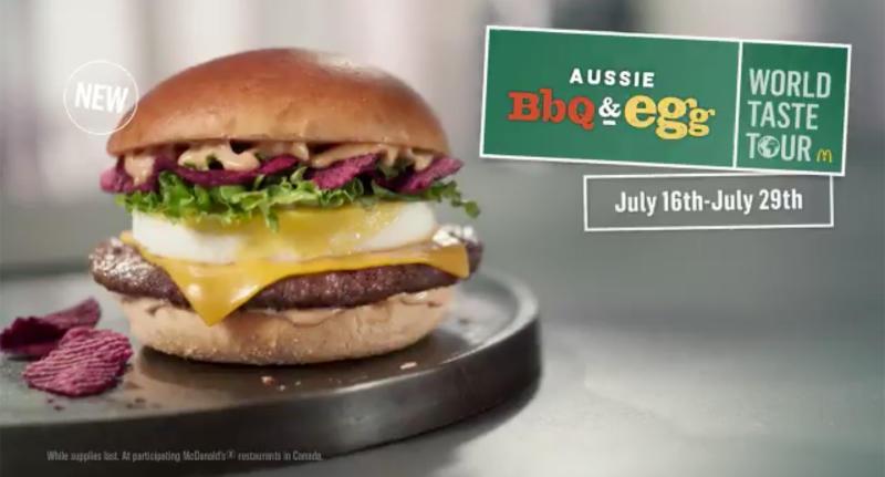 McDonald's Canada have been slammed over their 'UnAustralian' burger.
