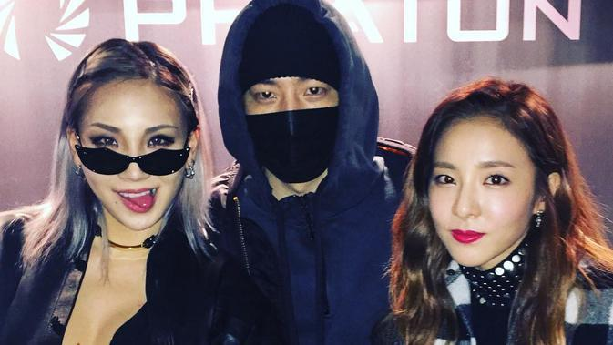 TEDDY bersama CL dan Dara 2NE1
