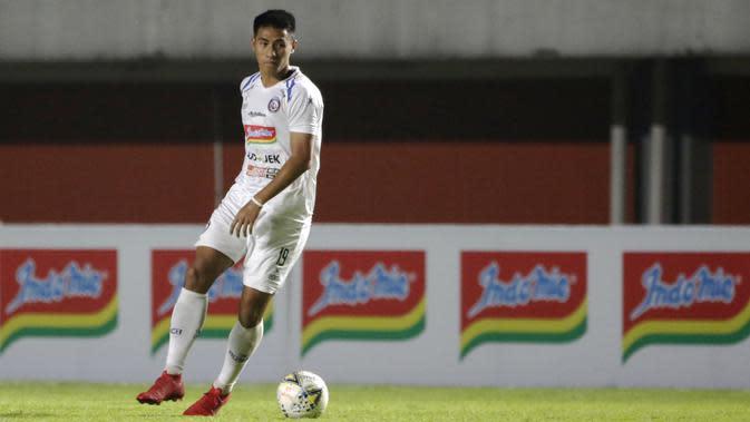 Pemain Arema FC, Hanif Sjahbandi. (Bola.com/Yoppy Renato)