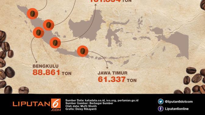 Infografis Daerah Penghasil Kopi (Liputan6.com/Deisy Rika)