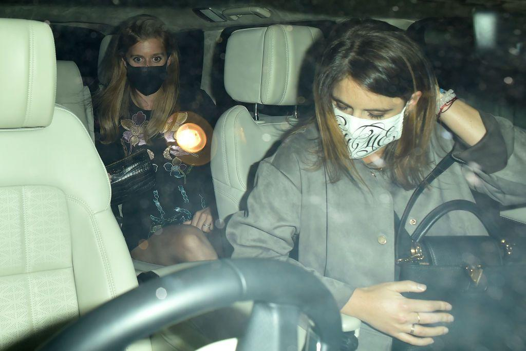 <p>The York sisters were photographed both wearing masks (Eugenie's appears to have a monogram) and heading to Annabel's, a private members club in London.</p>