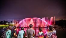 嘉義市蘭潭音樂噴泉 8月1日晚間恢復展演