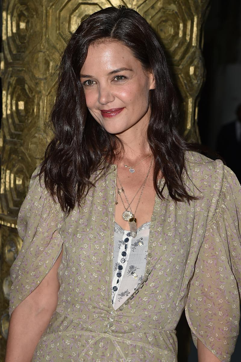 PARIS, FRANCE - FEBRUARY 27: (EDITORIAL USE ONLY) Katie Holmes attends the Chloe show as part of the Paris Fashion Week Womenswear Fall/Winter 2020/2021 on February 27, 2020 in Paris, France. (Photo by Dominique Charriau/WireImage)