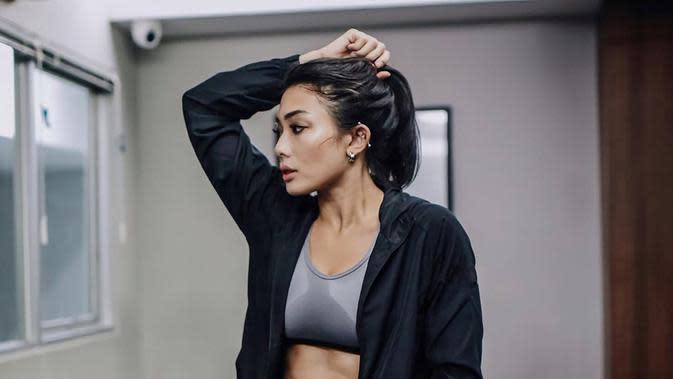 Nabila Putri usai berolahraga. (Foto: Instagram @nabilabylla)