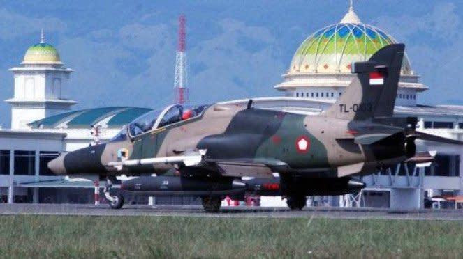 Pesawat Hawk 100/200 di Lanud Sultan Iskandar Muda