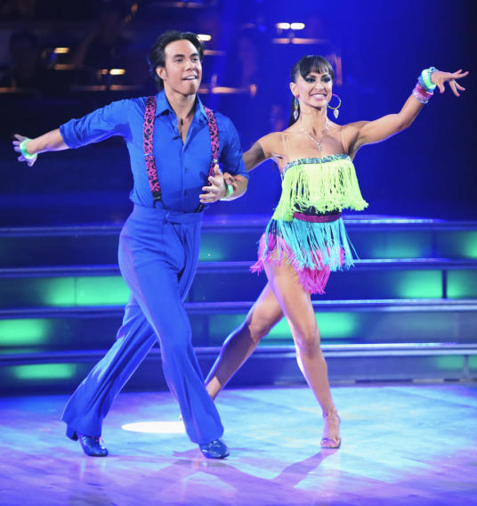 Apolo Anton Ohno and Karina Smirnoff (9/24/12)