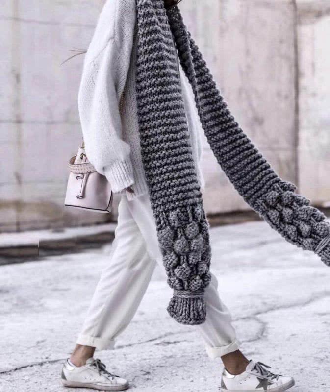 Etsy Chunky Knit Scarf`