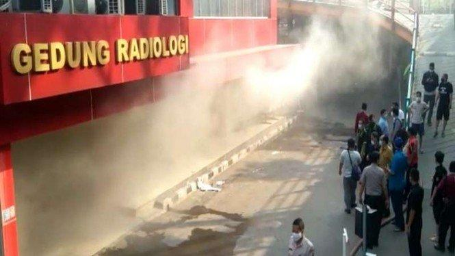Kebakaran Gedung Radiologi RS Polri Diduga karena Korsleting Listrik