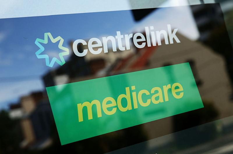 A Medicare and Centrelink office sign is seen at Bondi Junction on March 21, 2016 in Sydney, Australia.