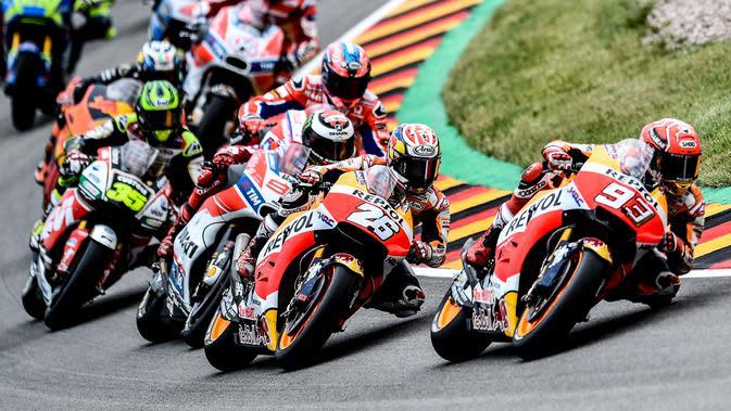CEO Dorna, Carmelo Ezpeleta, berniat menambah jumlah seri MotoGP menjadi 22 balapan. (EPA/Filip Singer)
