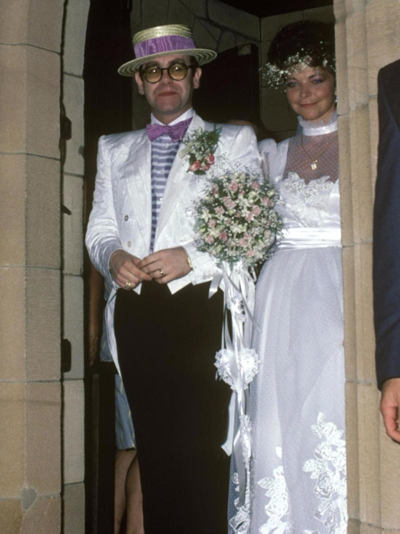 Elton John married German woman Renate Blauel, in Sydney in 1984. Photo: Getty