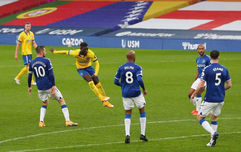 Rodriguez double, Calvert-Lewin strike sees Everton down Brighton