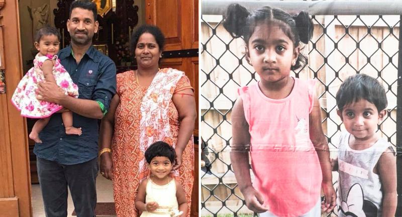 Photos of family facing deportation after Australian government denied them asylum.
