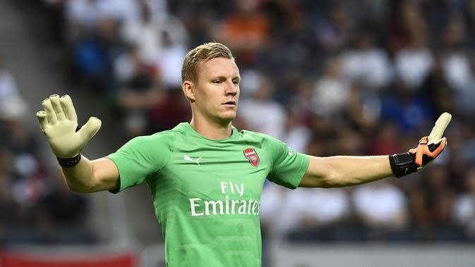 8. Bernd Leno - Dibeli Arsenal dari Bayer Leverkusen dengan harga 19,2 juta poundsterling. (AFP/Jonathan Nackstrand)