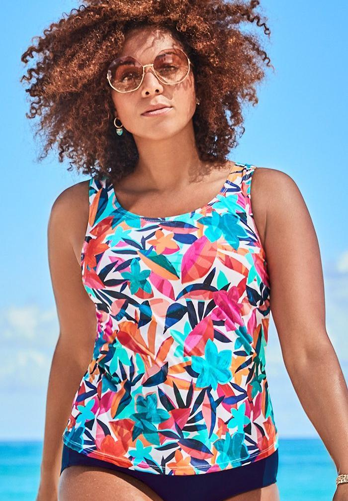 Classic Tankini Top. Image via Swimsuits for All.