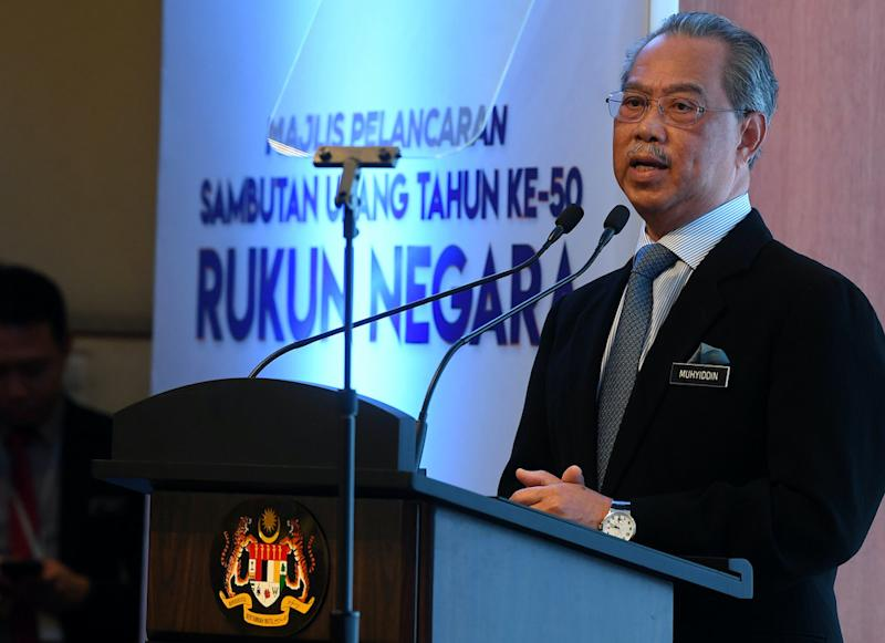 Prime Minister Tan Sri Muhyiddin Yassin said Sabahans will benefit more if their state administration were aligned with the coalition governing federally. — Bernama pic