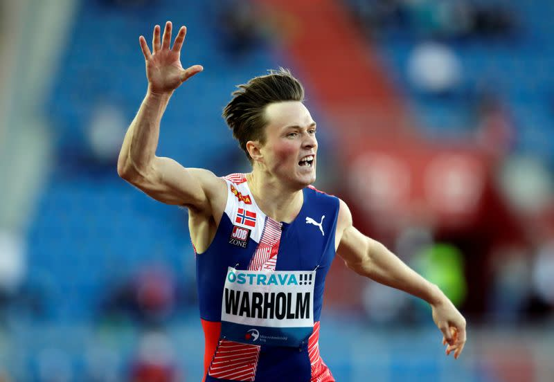 Athletics: Warholm comes up short again in world record attempt