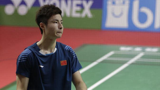 Tunggal putra China, Shi Yu Qi. (Bola.com/M. Iqbal Ichsan)