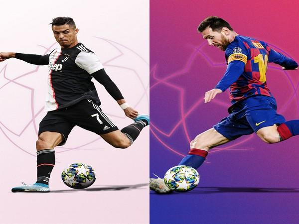 Juventus' Cristiano Ronaldo and Barcelona's Lionel Messi (Photo/ Champions League Twitter)