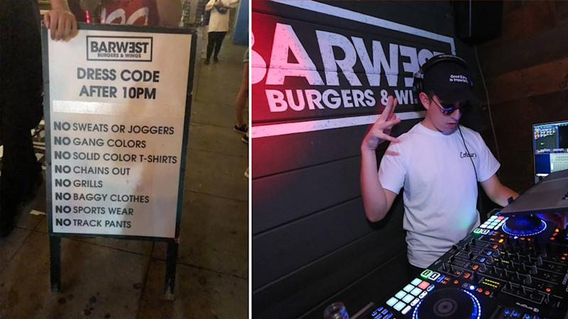 Sacramento Bar West's modern day 'whites only' dress code