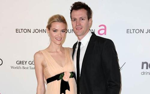 Jaime King and Kyle Newman arrive at the 21st Annual Elton John AIDS Foundation's Oscar Viewing Party on February 24, 2013 -- Getty Images