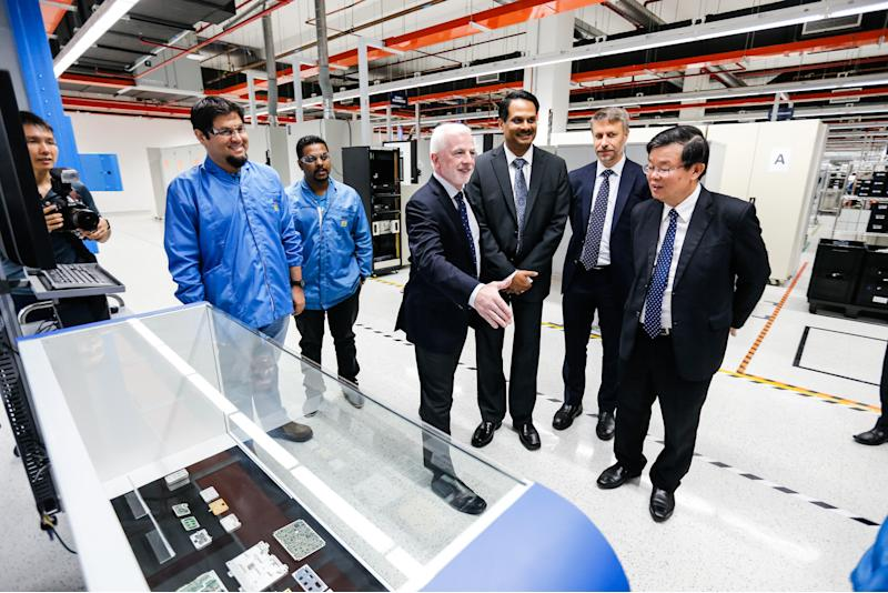 Penang Chief Minister Chow Kon Yeow (right) during a site visit following the official site opening of the company's new expanded unit in Batu Maung November 21, 2019. — Picture by Sayuti Zainudin