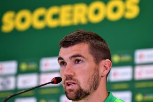 Australia goalkeeper Mathew Ryan speaks at a press conference in Kazan