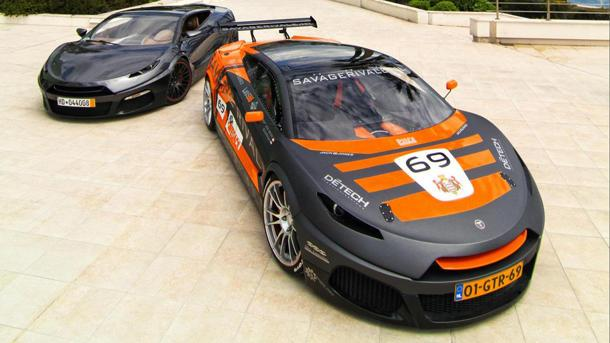 800-hp Savage Rivale GTR spec race car blazes through Monaco