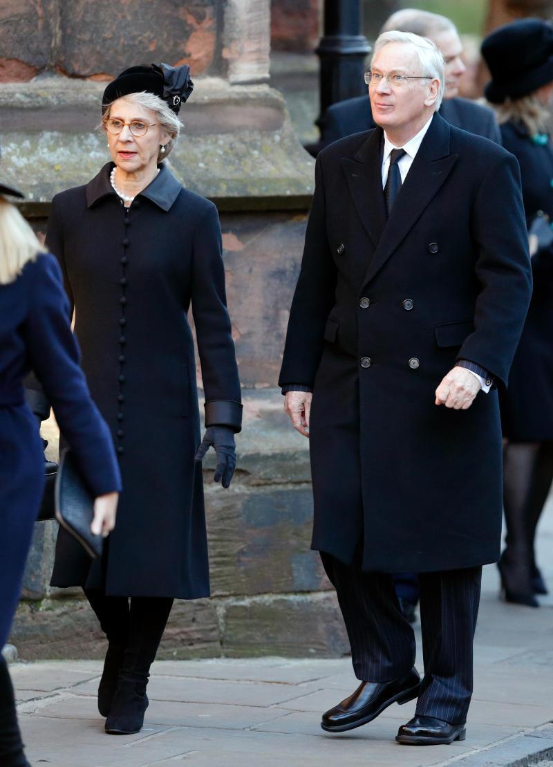 Birgitte, Duchess of Gloucester and Prince Richard, Duke of Gloucester attend a Memorial Service for Gerald Grosvenor