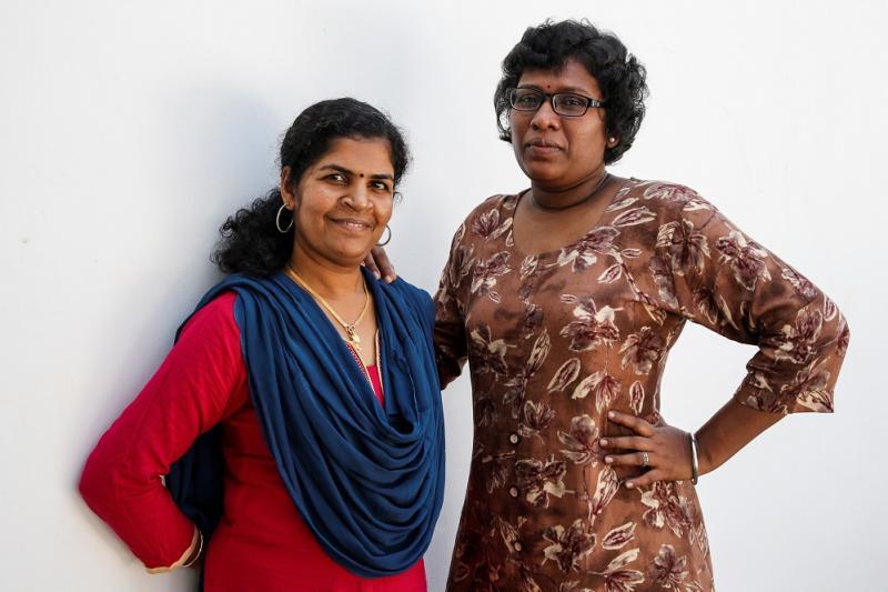 Kanaka Durga(L) and Bindu Ammini. (Photo by REUTERS/Sivaram V)