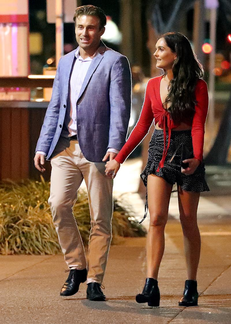Bachelor star Nichole Wood pictured on a date with Billy Vincent