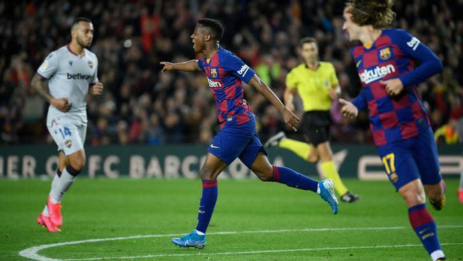 Cetak 2 Gol Kemenangan Barcelona, Ansu Fati Punya Bakat Besar di Mata Quique Setien