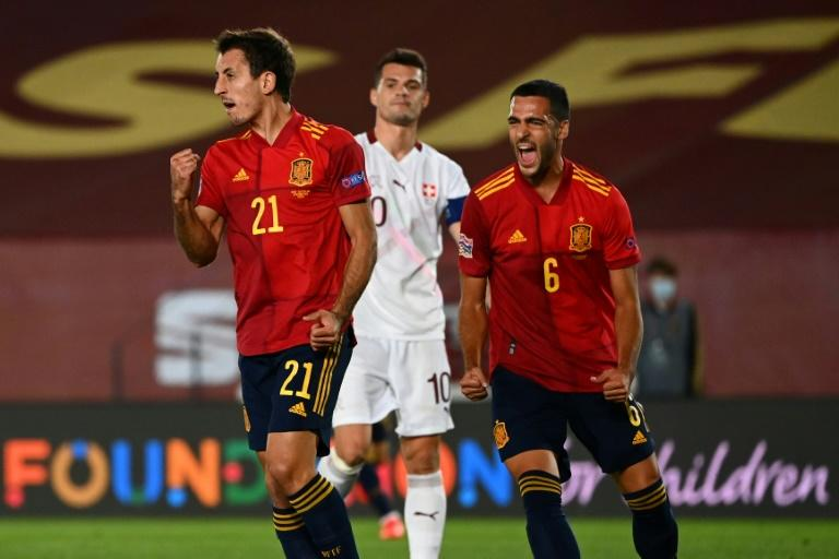 Spain edge Swiss, Germany beat Ukraine in Nations League