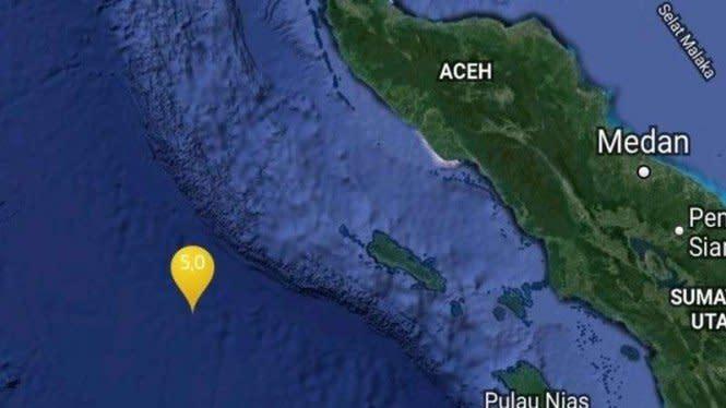 Gempa Bumi Baru Saja Guncang Aceh