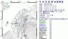 快訊/地牛翻身 台東規模4.8地震