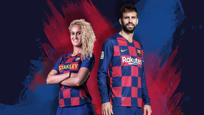 Jersey home Barcelona musim 2019-2020. (Bola.com/Dok. Barcelona)