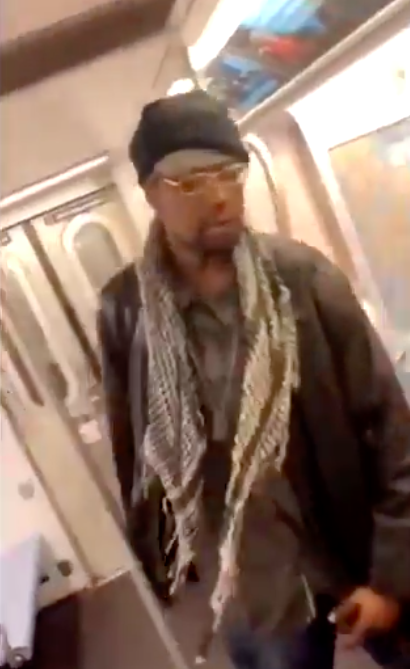 Man kicks elderly woman on New York City subway train