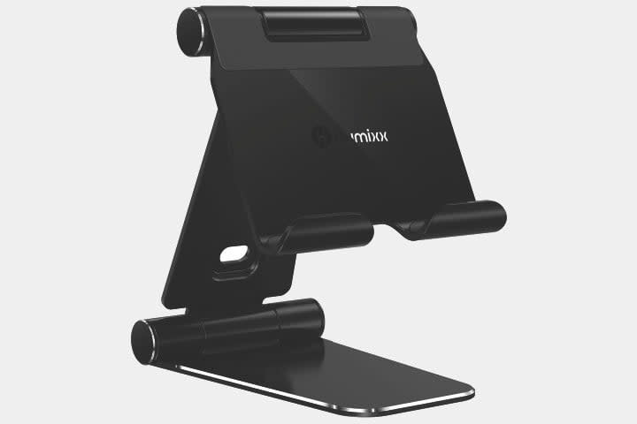 Humixx adjustable foldable black tablet stand for iPad