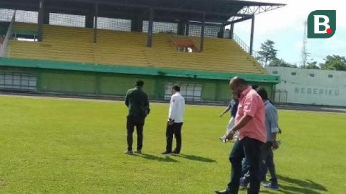 Stadion Gelora Mandiri, di Pare-Pare. (Bola.com/Abdi Satria)