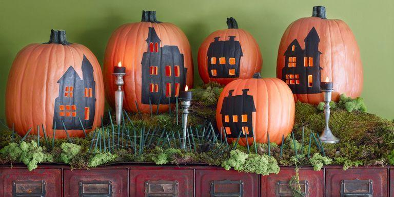 "<p>It's no secret that we love a good carved pumpkin for Halloween. But forget the same old <a href=""https://www.countryliving.com/diy-crafts/g1350/pumpkin-decorating-1009/"">pumpkin decorating ideas</a> you've been doing year after year and take a zombie crawl to the spookier side. Mix up your <a href=""https://www.countryliving.com/diy-crafts/how-to/g1024/do-it-yourself-halloween-decorations-1010/"">DIY Halloween decorations</a> with an easy idea from our roundup that's full of inspirational designs that are so much cooler than the standard, grinning jack-o'-lantern. <br></p><p>Spend a weekend with the kids making a boo-tiful pumpkin marquee, a Mason jar-inspired pumpkin, or pumpkin lanterns that'll help light the way for future trick-or-treaters. Or, rather than an expected orange display, gray, white, terrazzo, or even plaid carved creations make for much more creative <a href=""https://www.countryliving.com/home-design/decorating-ideas/g2621/fall-porch-decorating/"">fall porch decorations</a>. Another idea? Put your pumpkins to good use this year around the house in a purely genius new way, like as a DIY ice bucket, candy jar, pumpkin purse, or terrarium. </p><p>There are plenty of ideas for beginners in this roundup, so no matter your skill level, you're guaranteed to have the best-looking creation on the block. You've never seen pumpkins like this before, and each project is just as scary (or sweet) as the next. Happy haunting and carving!<br></p>"
