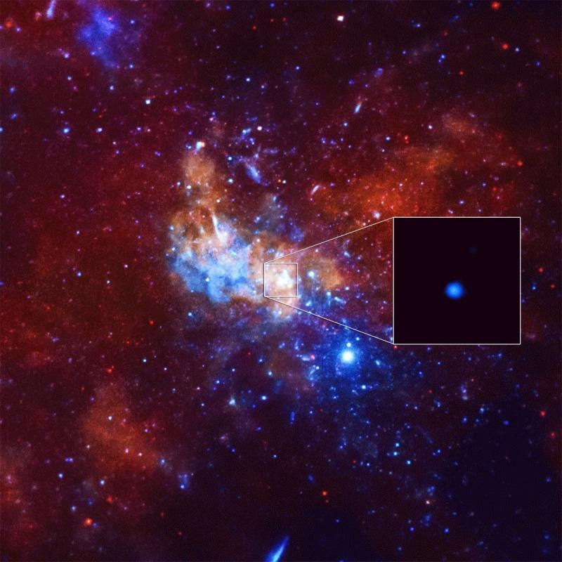 Photo credit: X-ray: NASA/UMass/D.Wang et al., IR: NASA/STScI