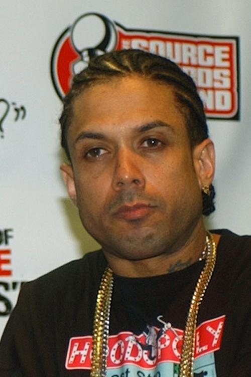 "File - This Oct. 10, 2004 file photo shows and Ray Benzino at the Source Hip-Hop Music Awards in Miami. Authorities say the reality TV star and rapper was shot and injured by his nephew while in a funeral procession for a family member in Massachusetts. Benzino, whose real name is Raymond Scott, is a cast member of the VH1 reality show ""Love & Hip Hop: Atlanta"" and former co-owner of The Source magazine. (AP Photo/Alan Diaz, File)"