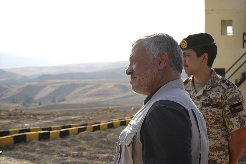 Raja Yordania mengunjungi dua wilayah yang diambil kembali dari Israel