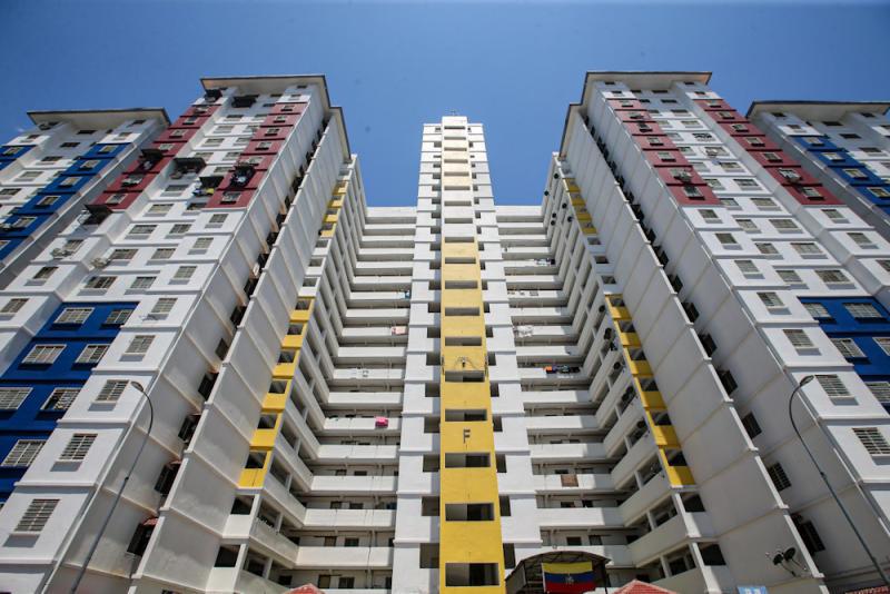 A view of a block of units at PPR Kerinchi. — Picture by Hari Anggara