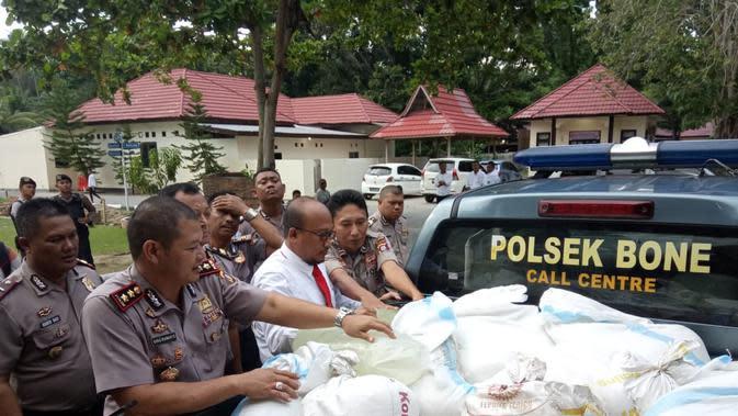 Kedok Boneka Terbongkar, 1 Ton Miras Cap Tikus Gagal Beredar di Gorontalo