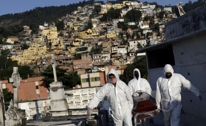 Brazil suffers record coronavirus deaths, Trump mulls travel ban