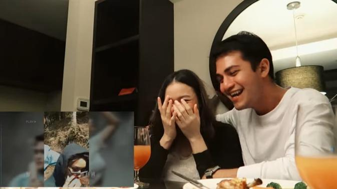 Momen Perayaan Anniversary Rizky Alatas dan Adzana Bing Slamet. (Sumber: YouTube/ Adzana Rizky Story)