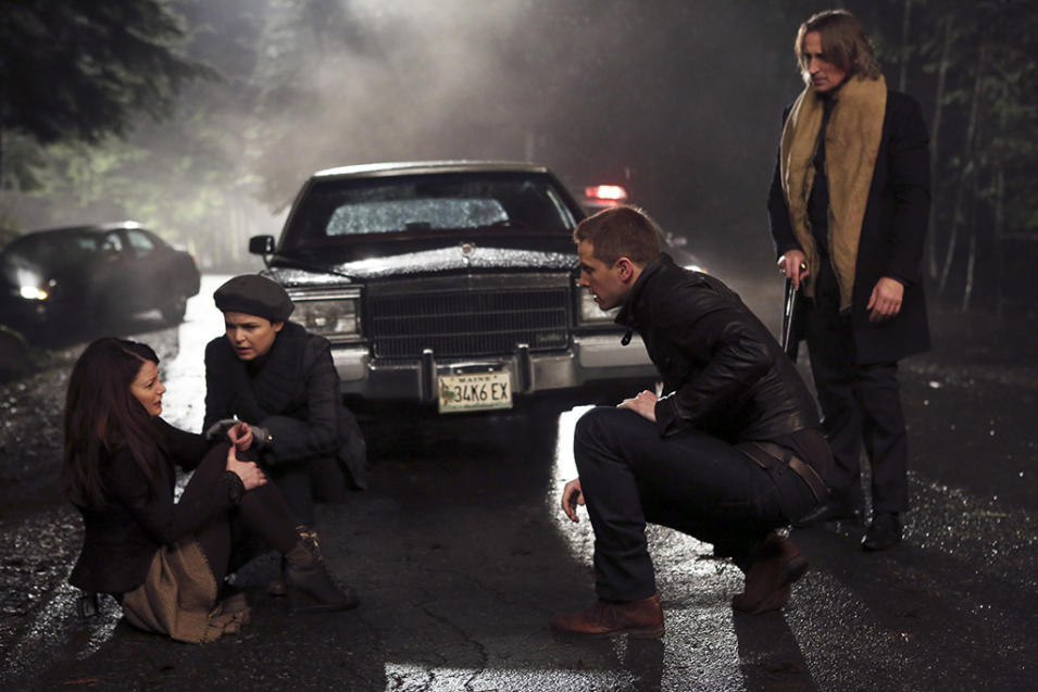 """Once Upon a Time"" -- ""In the Name of the Brother"" EMILIE DE RAVIN, GINNIFER GOODWIN, JOSH DALLAS, ROBERT CARLYLE"
